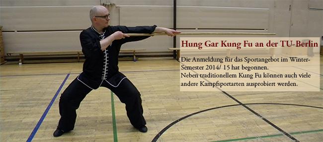 Kampfsport-Training für Einsteiger im traditionellen Hung Gar Kung Fu