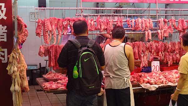 North Point, Fleischstand auf der Marktstraße